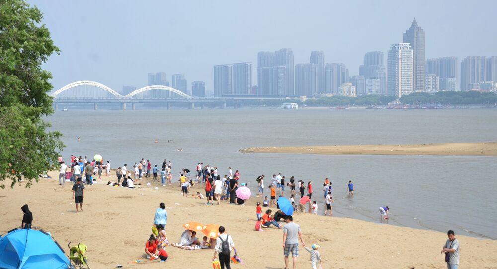 O rio Songhua, um dos rios mais extensos chineses,