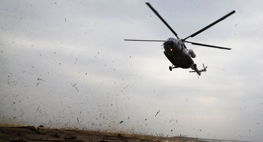 Helicóptero Mi-8 na região russa de Khabarovsk (arquivo)