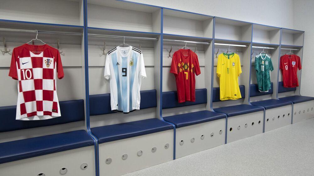 Uniformes de Croácia, Argentina, Bélgica, Brasil, Alemanha e Inglaterra para a Copa do Mundo de 2018
