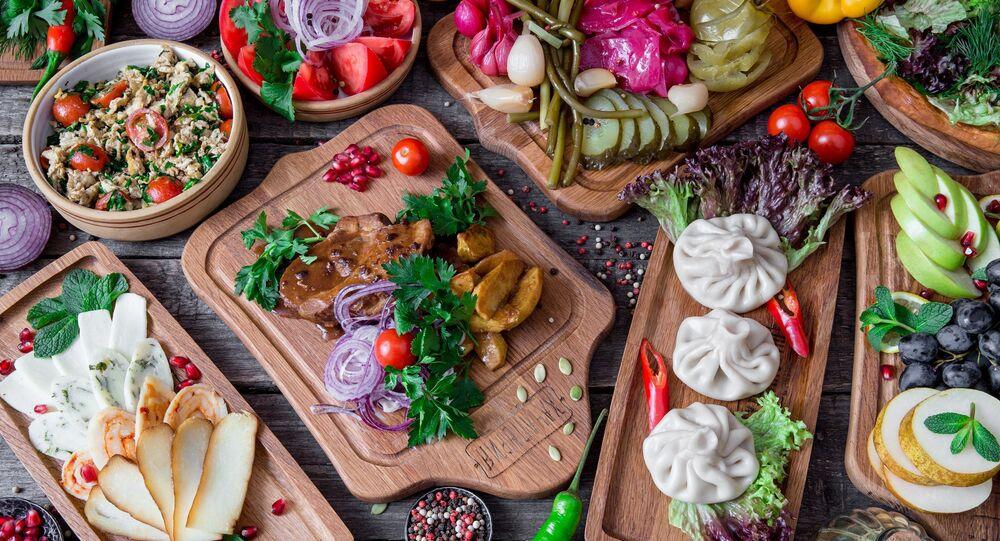Comida do restaurante Khachapuria