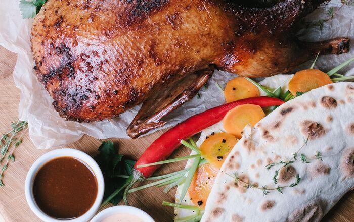 Pato, uma das refeições do bar Fidel'