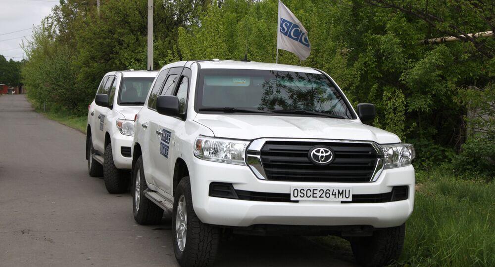 Automóveis da OSCE na região de Donetsk