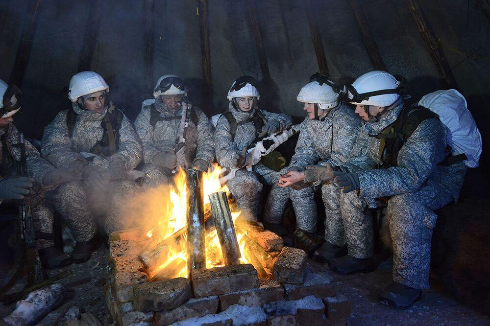 Militares da Frota do Norte russa