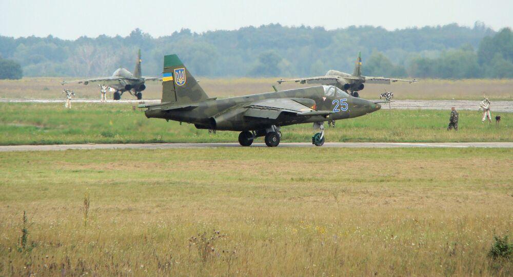 Caça Su-25 da Força Aérea da Ucrânia