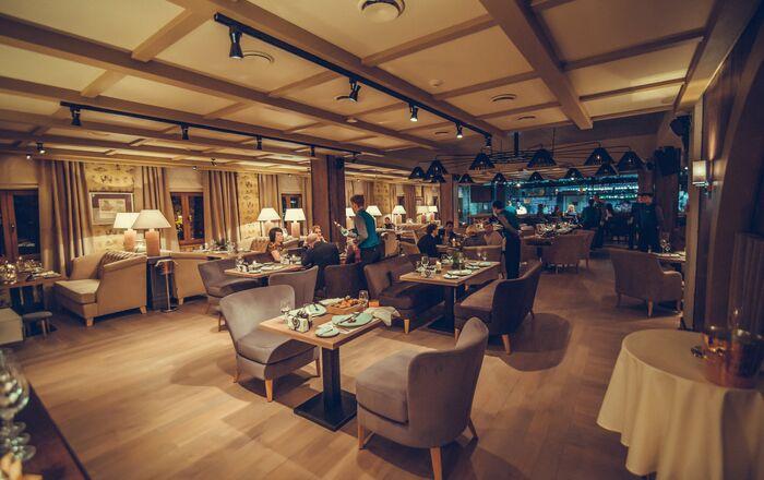 Interior do Restaurante Baran-Rapan em Sochi