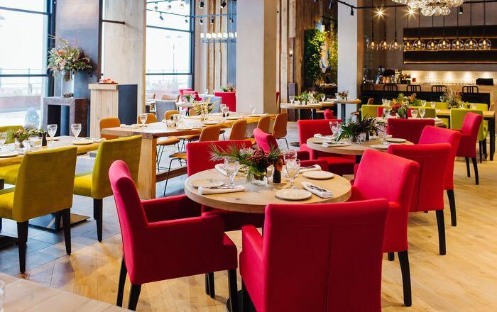 Interior do Restaurante 5642 Vysota em Sochi