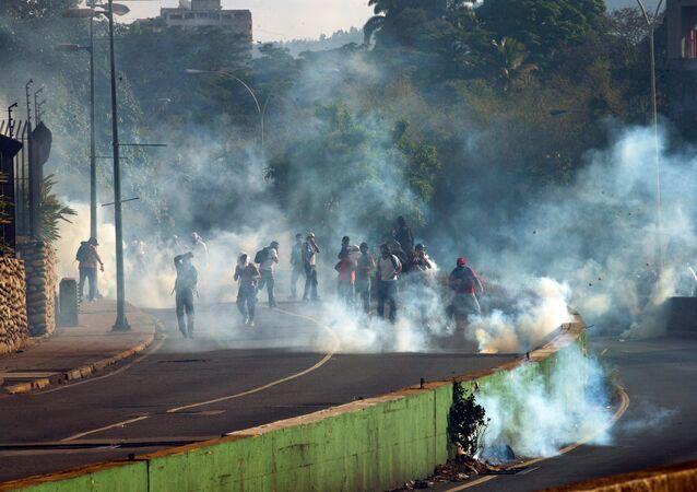 Manifestações antigovernamentais em Caracas