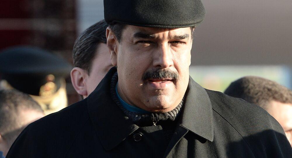Nicolás Maduro em Moscou, antes das celebrações do Dia da Vitória em 2015.