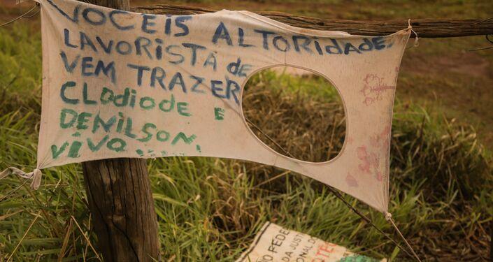 Retomada Pindo Roky, que fica na Terra Indígena Dourados Amambaipeguá 1, em Caarapó, MS.