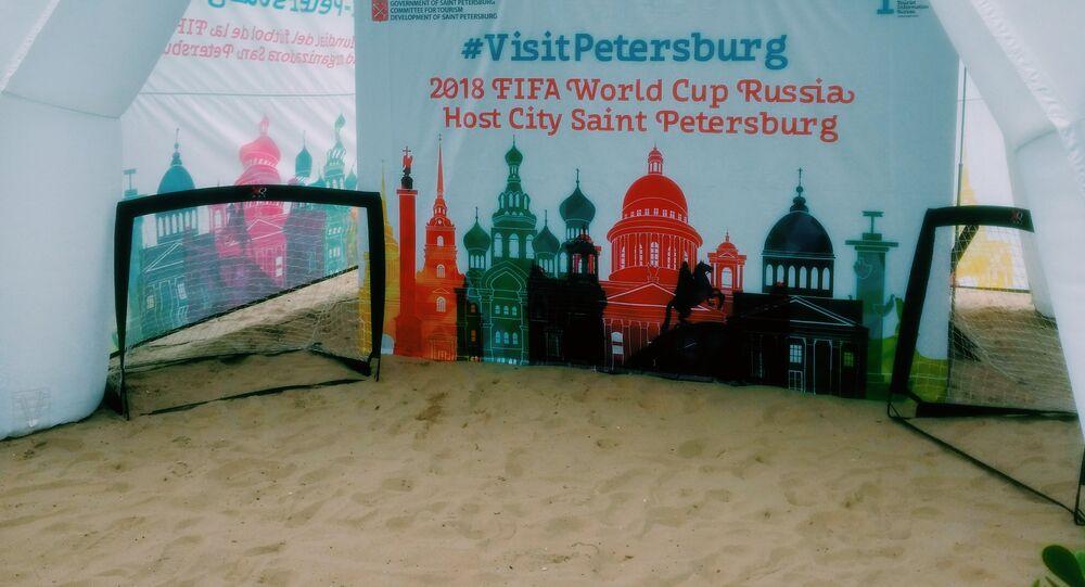 São Petersburgo em Copacabana, Rússia divulga cidades sedes da Copa no Rio de Janeiro