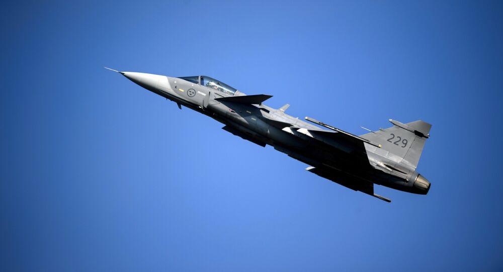 Saab JAS 39 Gripen (foto de arquivo)