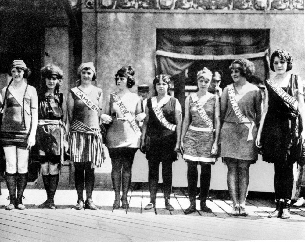 Participantes do concurso Miss América em 1921
