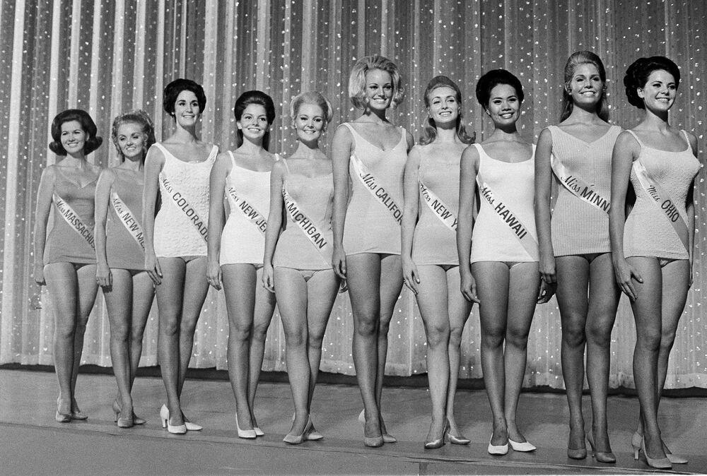 Participantes do concurso Miss América em 1969