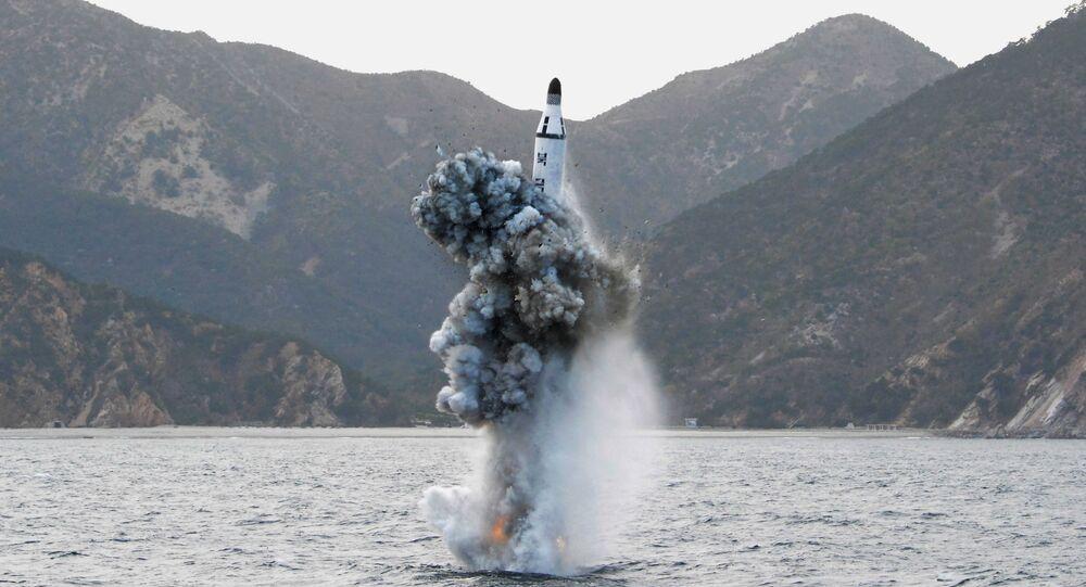 Teste nuclear da Coreia do Norte (foto de arquivo)