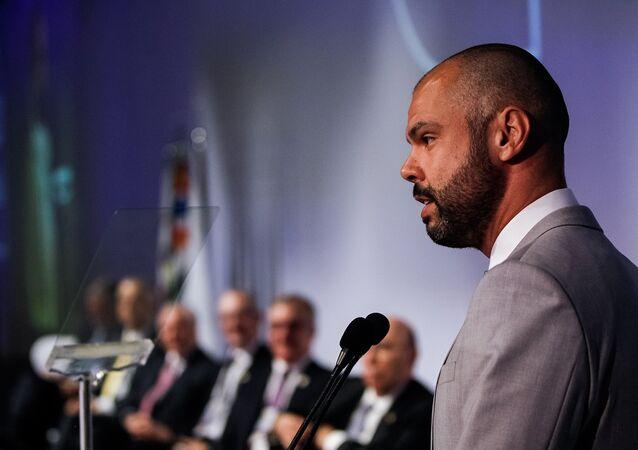 O prefeito de São Paulo, Bruno Covas participa da cerimônia de abertura da APAS Show 2018 (foto de arquivo)
