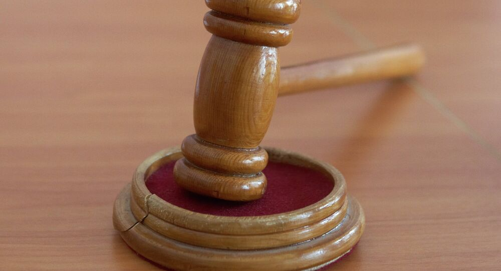 Martelo na sala de tribunal