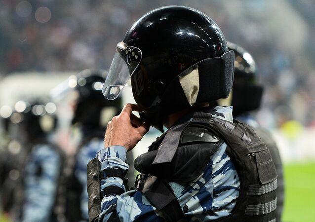 Polícia russa em um estádio de futebol (foto de arquivo)