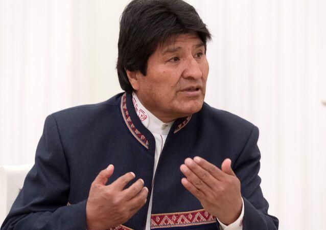 Evo Morales, presidente da Bolívia, em Moscou