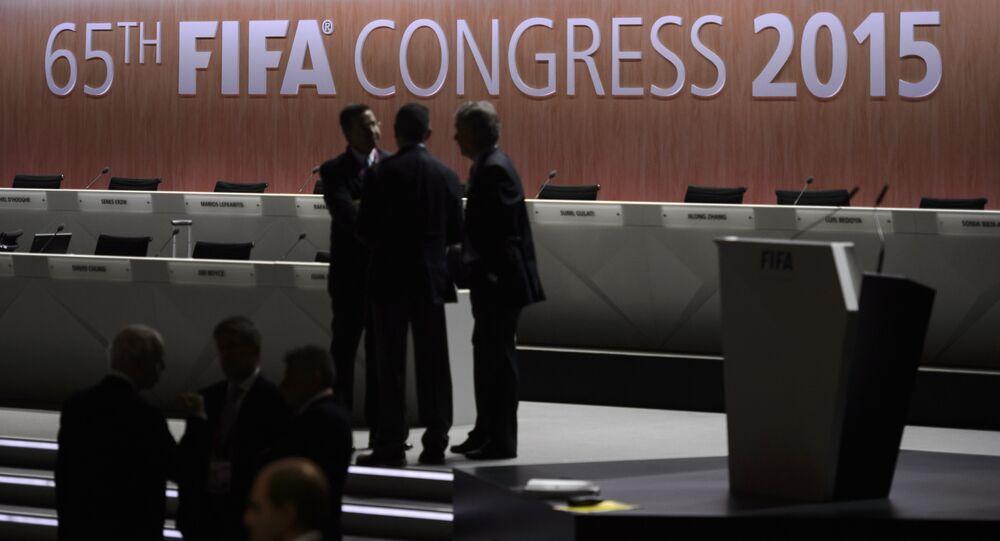 Congresso da FIFA em 29 de maio de 2015, em Zurique.