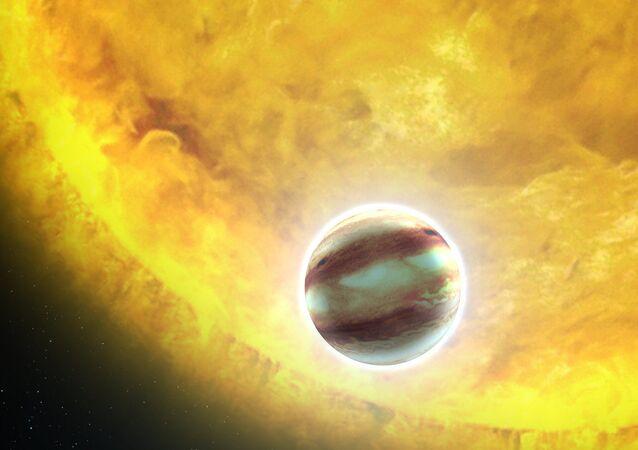 Estrela e um planeta (imagem ilustrativa)