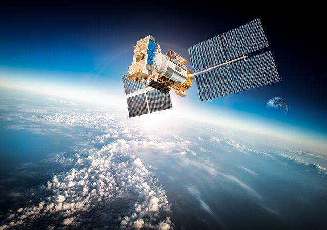 Satélite na órbita terrestre