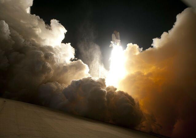 Lançamento de um foguete