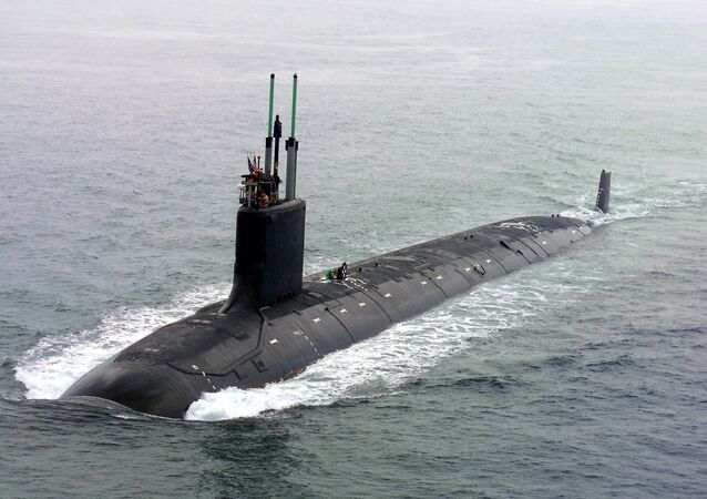 Submarino norte-americano da classe Virginia SSN 774 USS (foto de arquivo)