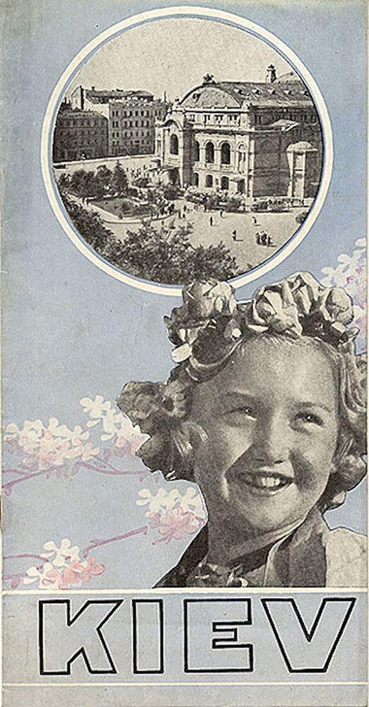 Panfleto soviético intitulado Kiev, datado de 1932