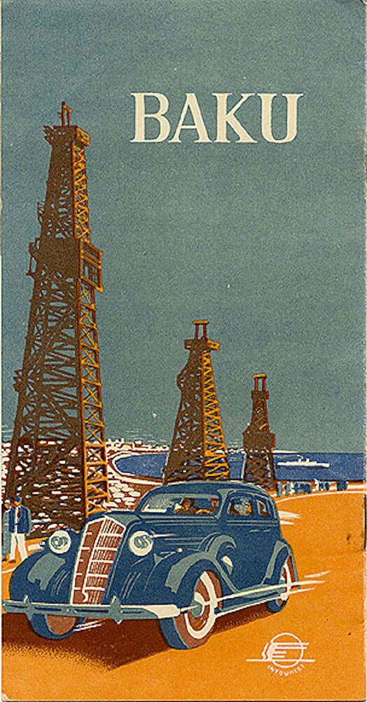 Panfleto turístico intitulado Baku, datado de 1937