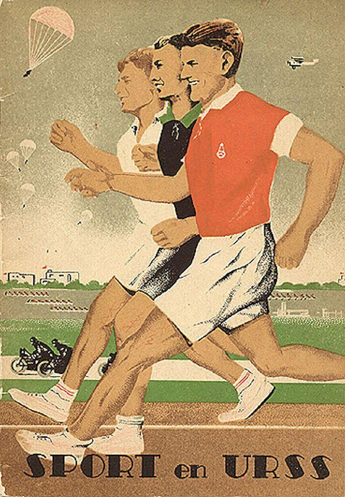 Panfleto turístico intitulado Esporte na URSS, datado de 1937
