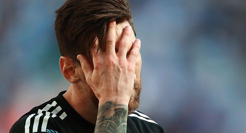Lionel Messi, jugador da Seleção da Argentina