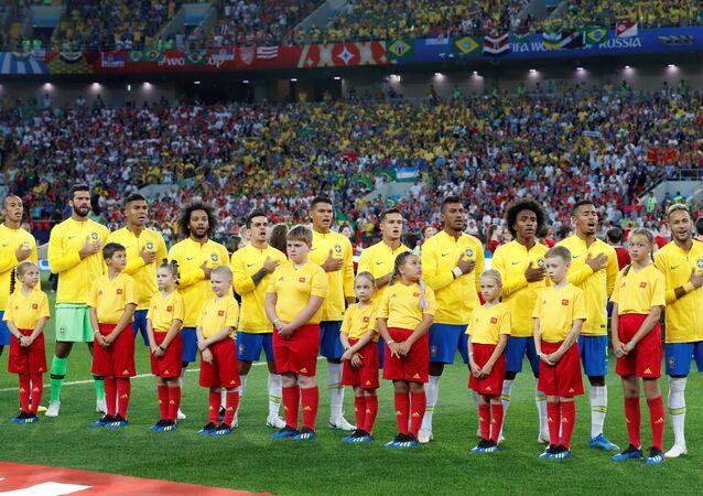 Time brasileiro perfilado para enfrentar a seleção da Sérvia
