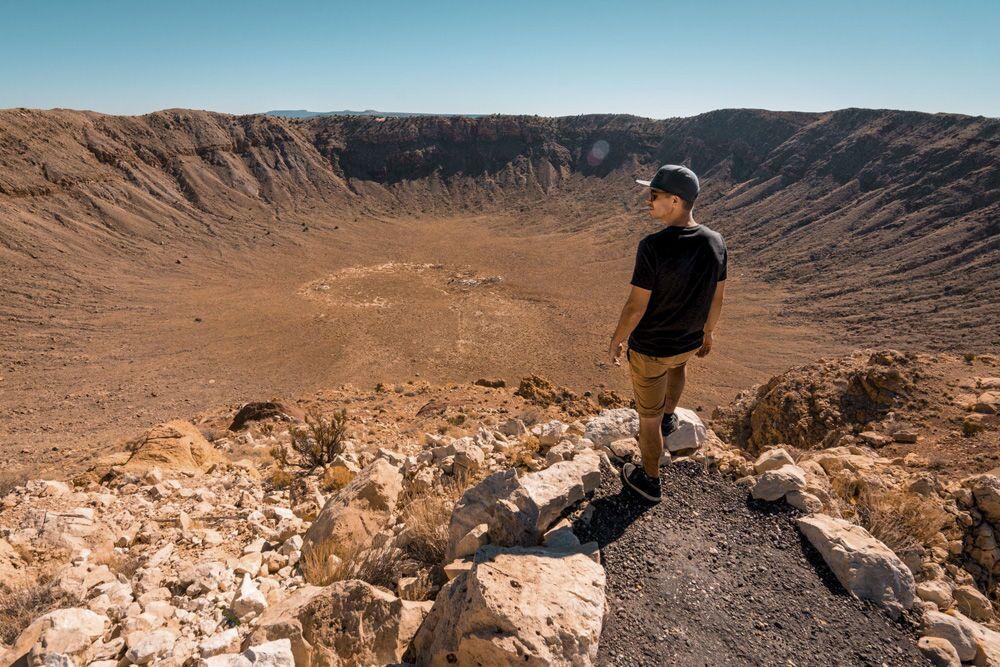 Cratera formada por meteorito no estado do Arizona, EUA