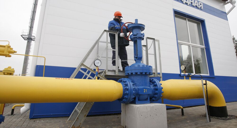 Distribuição de gás da JSC Gazprom.