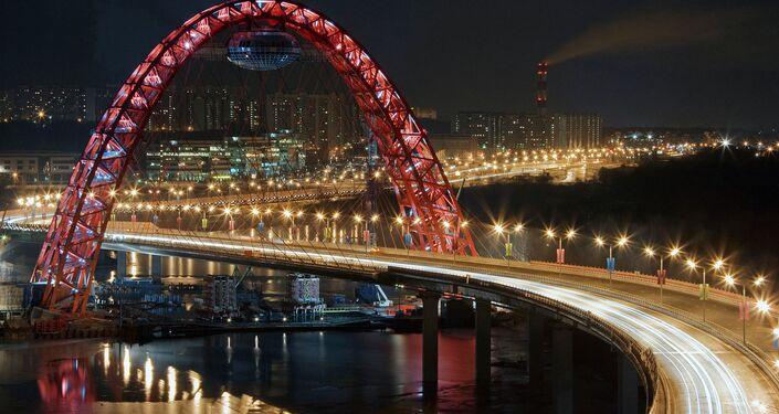 Ponte estaiada em Moscou (Ponte Pitoresca)
