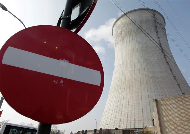 A usina nuclear em Tihange, sudeste de Bruxelas.