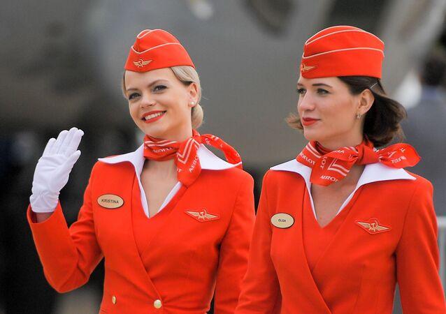 Aeromoças da empresa aérea russa Aeroflot