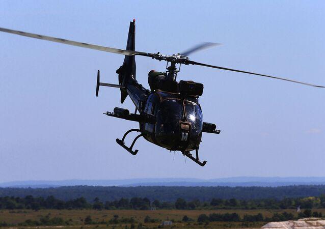 Helicóptero Gazelle da Força Aérea francesa