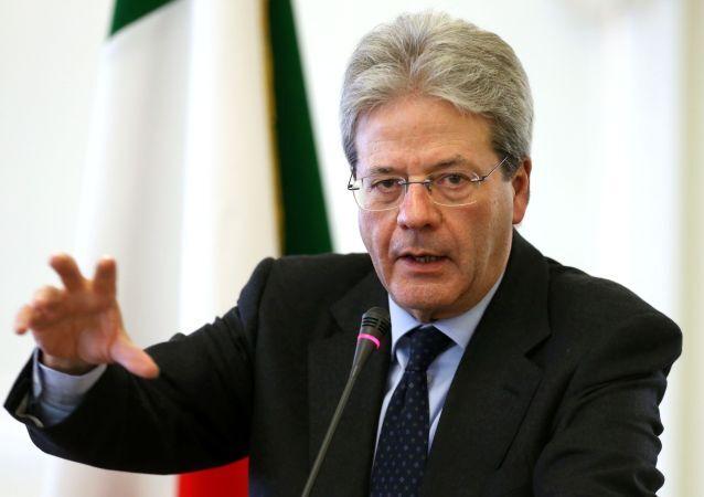 Ministro das Relações Exteriores da Itália, Paolo Gentiloni