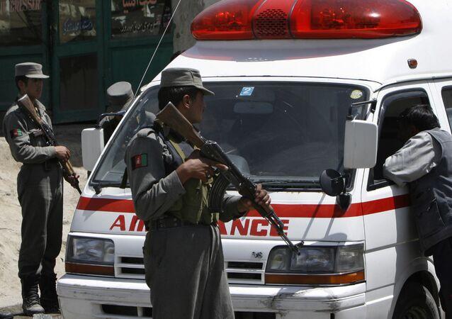 Ambulância afegã (foto de arquivo)