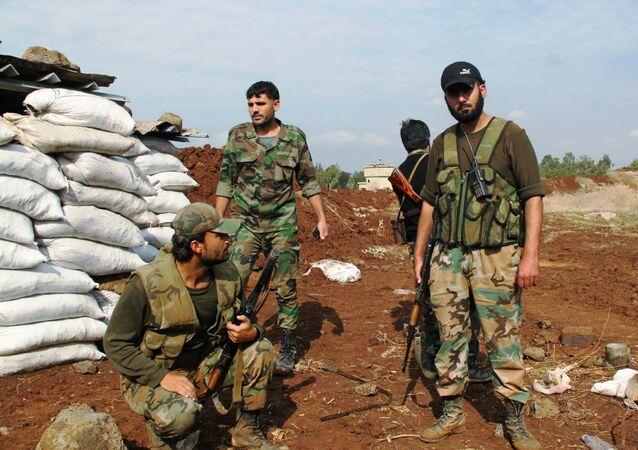 Soldados sírios na província de Daraa
