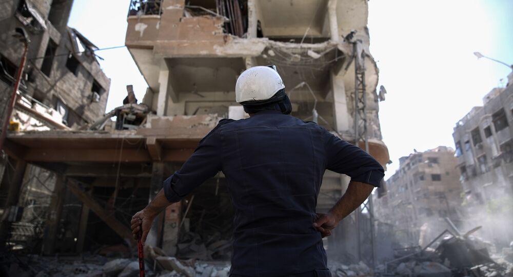 Capacetes Brancos na Síria, 5 de outubro de 2016 (foto de arquivo)