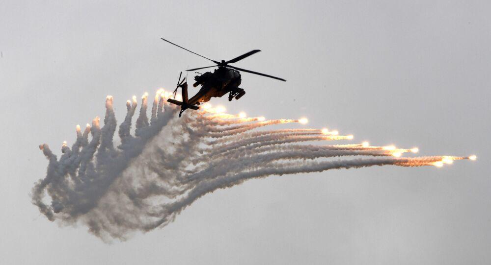 Um helicóptero (imagem referencial)