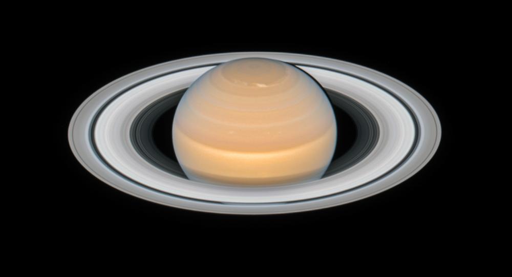 Imagem de Saturno tirada pelo telescópio espacial Hubble pertencente à NASA