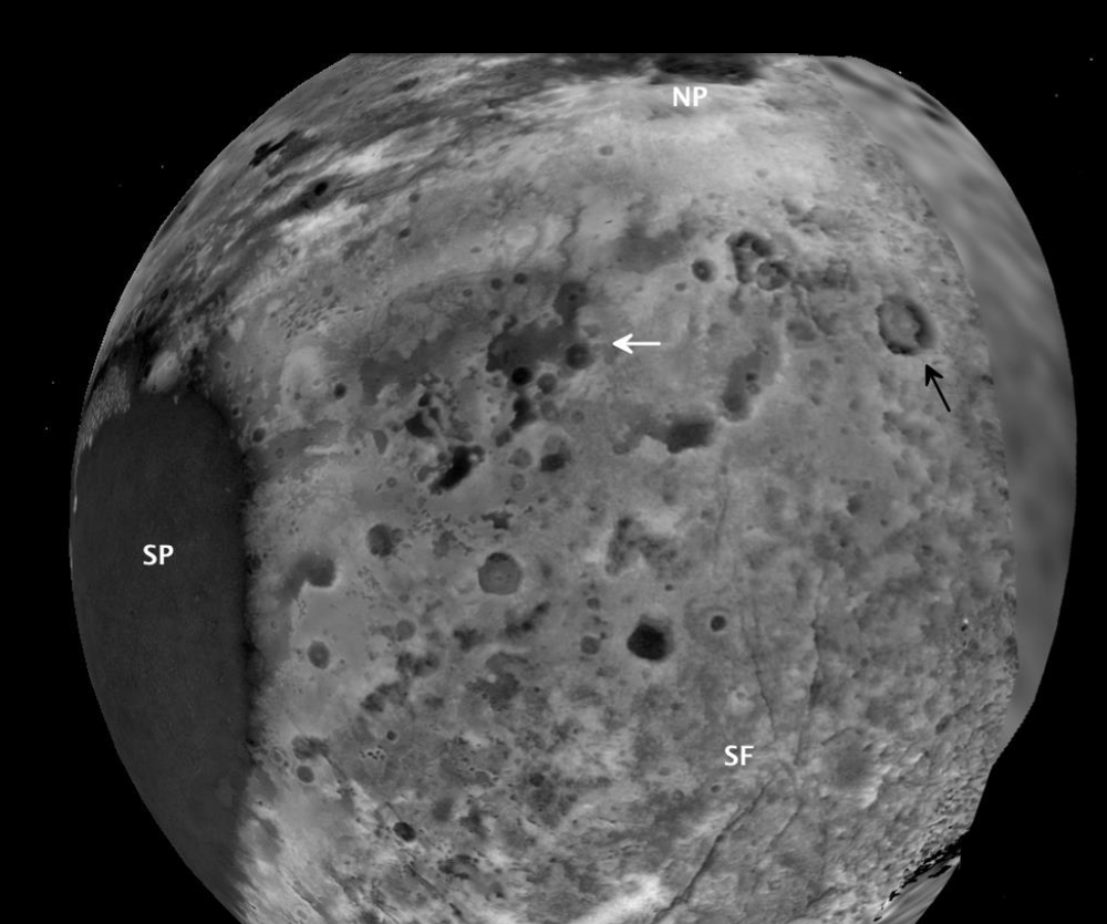Mapa tridimensional de Plutão criado pela equipe da missão espacial New Horizons
