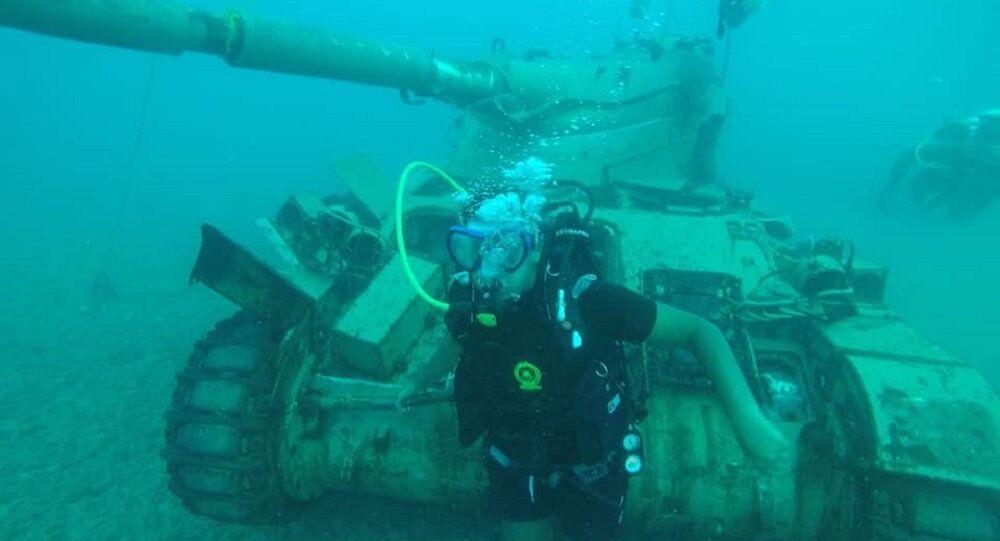 Parque militar aquático no sul do Líbano
