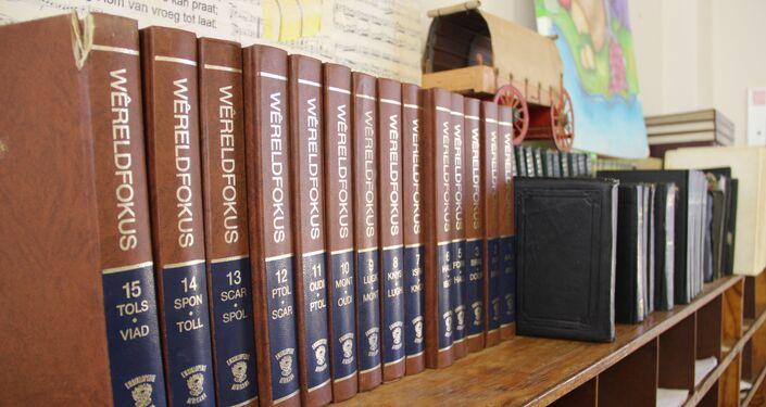 Livros na escola em Kleinfontein