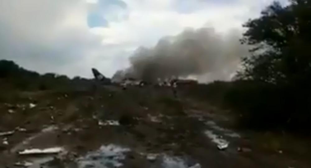 Local do acidente aéreo no estado mexicano de Durango