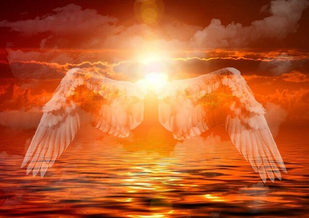 Asas de angel em céu
