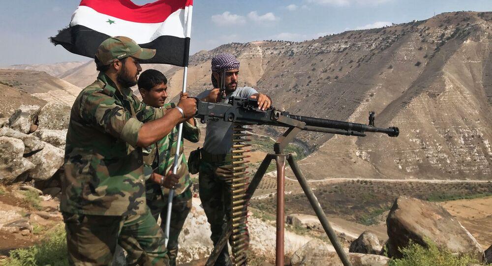 Exército sírio na província de Daraa (foto de arquivo)